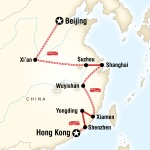 UIC Student Travel Beijing to Hong Kong–Fujian Route for University of Illinois at Chicago Students in Chicago, IL