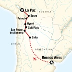 UIC Student Travel Buenos Aires to La Paz Adventure for University of Illinois at Chicago Students in Chicago, IL